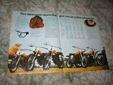 1974 SUZUKI MOTOCROSS CYCLE AD TM 400 TM 250 TM 125 TM 100 TM 75, RL-250 4 pages
