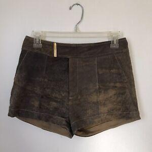 Brown Suede Maggie Ward Shorts Size 4