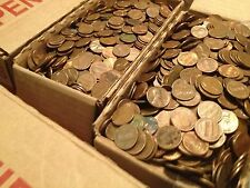 $120 Face Val US Copper Pennies, Machine Sorted 1959-1982 80+ LBS 12,000 Coins!