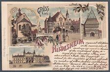 GERMANIA DEUTSCHLAND HILDESHEIM 01 GRUSS Cartolina 1900