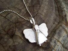 Schutzengel Anhänger 925 Sterling Silber Engel handgefertigt Taufgeschenk