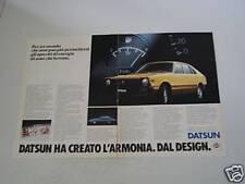 advertising Pubblicità DOPPIA 1980 DATSUN CHERRY