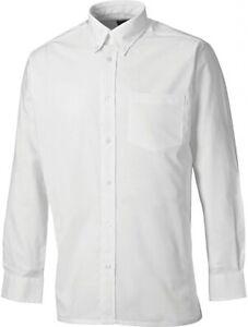 Dickies White Work Shirt Oxford Long Sleeve Mens Smart Button Down Collar