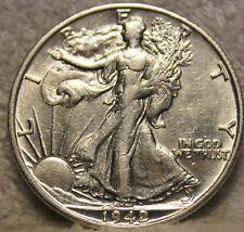 1942S AU walking liberty half dollar