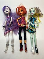 Monster High Doll Lot Of 3 Characters Toralei Spectra Vondergeist Frankie Stein