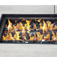 High Luster Reflective Fire Glass 10 Pounds Fire Glass for Firepit Fireplace