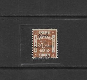 PALESTINE 1920 3 MILS DISPLACED OPT WITH HEBREW ON MARGIN SG 18 NH