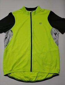Pearl Izumi Mens XXL Bright Green Elite Pursuit Full Zip Cycling Jersey Shirt