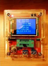 2017 Transistor Tester TFT Diode Triode Capacitance Meter LCR ESR MOSFET + Case