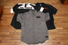 Lot of 3 Genuine Harley Davidson Embroidered Button Up Mechanic Shop Shirt XL