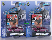 Muscle Machines Jay Cutler Set 1955 Chevrolet Nomad 55 Chevy Hot Rod Wagon 1:64