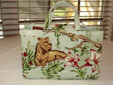 Liv TH Tote Living Things Small Tote Purse Hand Bag Sequins Lioness Leopard #