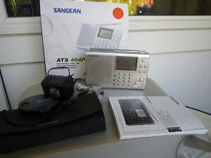 Sangean ATS-404 Weltempfänger Synthesized Receiver Radio , Top-Zustand OVP