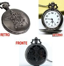 KUROSHITSUJI POCKET WATCH COLLANA NECKLACE BLACK BUTLER SEBASTIAN OROLOGIO CIEL