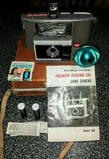 Vintage Polaroid J66 Land Camera. J-5 Flash. Manual,Travel Case. AG1 Bulbs-Works