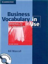 Cambridge BUSINESS VOCABULARY IN USE Elementary - Pre-Intermediate +CD 2ND E New