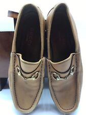 6257552fc Mens Gucci Italy Horsebit Brown Leather Loafers size 6.5