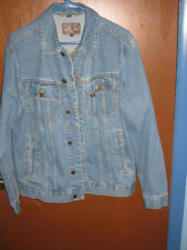 Lee Jeans Mens Size Small Harley Davidson Cotton Blue Denim Riding Jacket