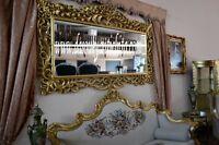 Grande specchiera dorata stile Barocco