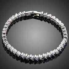 Micro Round Cubic Zircon Stone Bezel Setting Bracelet for Women Ladies MBR0146