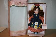"""16"""" Tall Norma Jean Doll with Flowered Dress & Straw Hat Collectible Memories"""