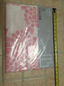 "1pc IKEA Curtain Panel Varen Nina Roeraade White pink NICE 59"" x 118  DEAL$WOW!"
