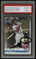 RONALD ACUNA JR. TOPPS UPDATE HOME RUN DERBY ROOKIE GOLD CUP CARD 1ST GRADED 10