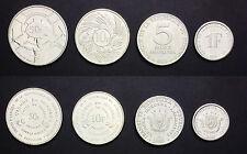 BURUNDI 4 COINS SET 1, 5, 10, 50 FRANCS UNC