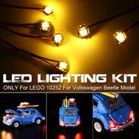 ONLY LED Light Lighting Kit For LEGO 10252 For Volkswagen Model Bricks g e`