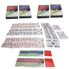 4x Pokerkarten Plastik mit Cut-Cards Eckzeichen großJumbo Index 4 Marke suplaya