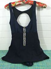 VICTORIAS SECRET NAVY BLUE VTG INSPIRED SAILOR LOOK ONE PIECE SWIMSUIT  SZ 8