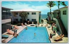 Pool at Carnaval de Venise Apartments Lauderdale-by-the-Sea, Florida Postcard