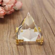 Mini Feng Shui Egypt Egyptian Crystal Clear Pyramid REIKI Healing Prizm Amulet