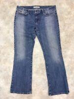 Joe's Women's Blue Medium Wash Distressed Provocateur Bootcut Jeans Sz 32