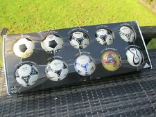 adidas World Cup Historical Mini Match Ball Designs Boxed 10 Ball Set 1970-2006