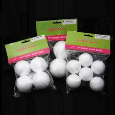 """12 Styrofoam Foam Polystyrene Art Crafts Styro White Balls Project  2"""" 2 1/2"""" 3"""""""