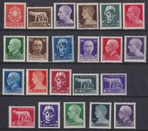 ITALY 1929 complete set of 22 MH - MNH / N6648