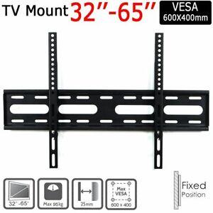 TV Wall Bracket Mount Slim For 32 37 40 42 47 50 55 60 65 inch LCD LED 3D Plasma