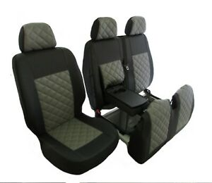 IVECO DAILY after 2015 RHD ECO GREY LEATHER Seat Covers 2+1