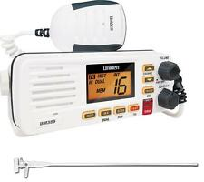 UNIDEN UM355VHF MARINE RADIO SPLASHPROOF+AXIS VHF MFV3 1M WHITE ANTENNA PACKAGE