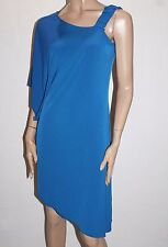 Veducci Designer Royal Blue One Shoulder Cocktail Dress Size 10 BNWT #SC42