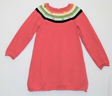 """Gymboree """"Lots of Dots"""" LS Pink Sweater Dress w/Colorful Buttons, 3T"""