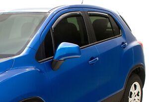 2015-21 Chevy/Buick Frt&Rear InChannel Deflectors Smoke Black by Lund 19303454