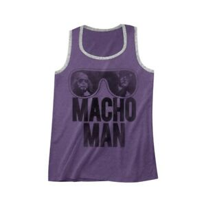 Macho Man Randy Savage WWE Purple Mens Tank Top Shirt