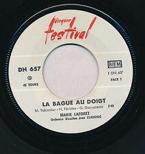 """MARIE LAFORET 45 TOURS 7"""" FRANCE LA BAGUE AU DOIGT"""