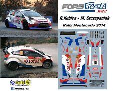 DECAL  1/43 -  FORD  FIESTA WRC  -  KUBICA - Rally  MONTECARLO    2014