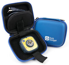 Blue Shell Case With Interior Pocket For Use With VTech Kidizoom Action Cam