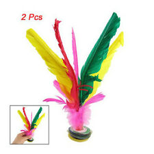 Colorful Feather Kick Shuttlecock Chinese Jianzi 2 Pcs
