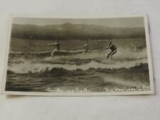 Thrills and Spills BIG BEAR LAKE CALIF. RPPC Real Photo PostCard
