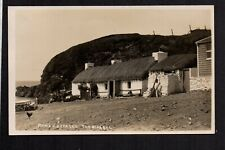 The Niarbyl - Manx Cottages - real photographic postcard
